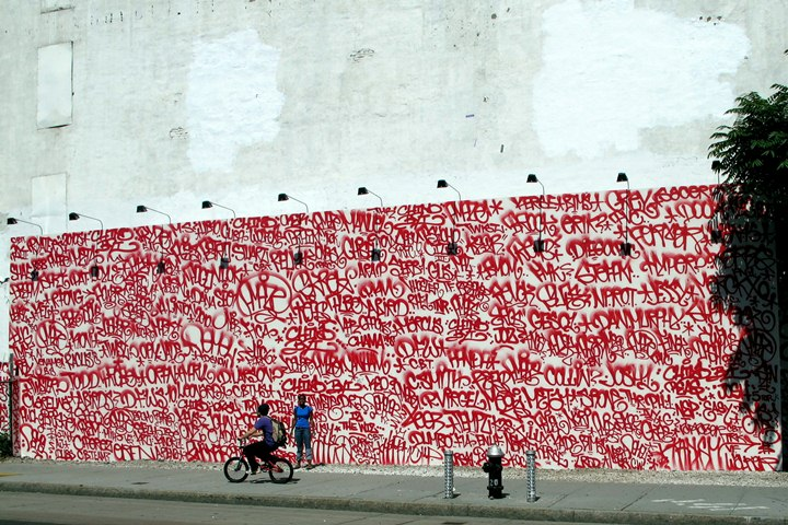 Barry McGee street art Bowery New York The Wall on Bowery and Houston Street