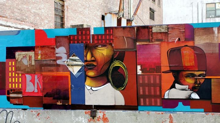 Cekis artwork in downtown Brooklyn