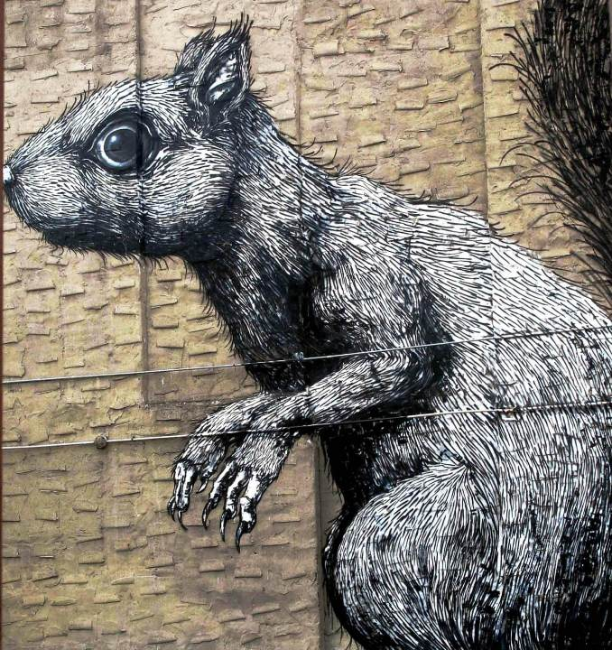 Roa street art in Williamsburg Roa: On NYC Streets & at the Jonathan LeVine Gallery