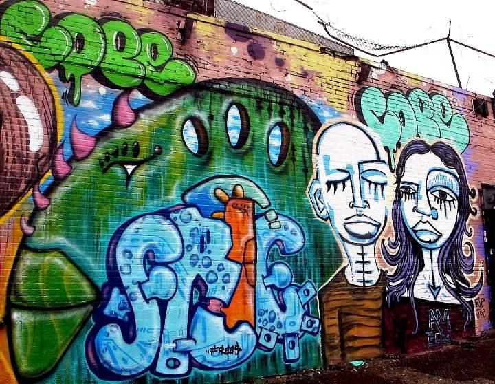 """Cope2, Free5 & Alice Mizrachi Bronx street art & graffiti"""