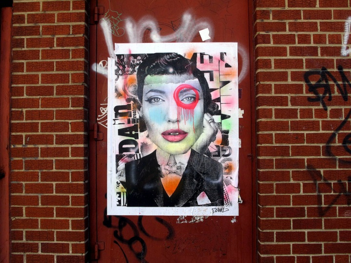 Dain street art in Brooklyn Girls on Walls in NYC, Part lI: Cake, Cern, Dain, Jim Avignon, Never & Eras, NohJColey and Swoon
