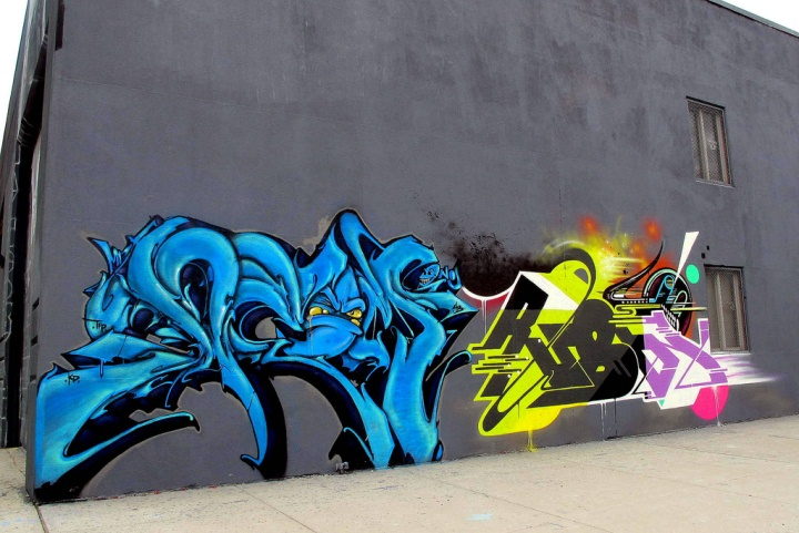 """Deem and Rubin415 graffiti and street art in Bushwick, Brooklyn, NYC"""