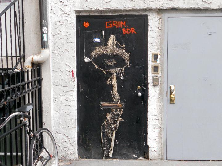 """Elbow Toe street art in NYC"""