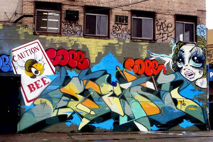 """King Bee, Sen2, Cope2, & Sand One Bronx street art & graffiti"""