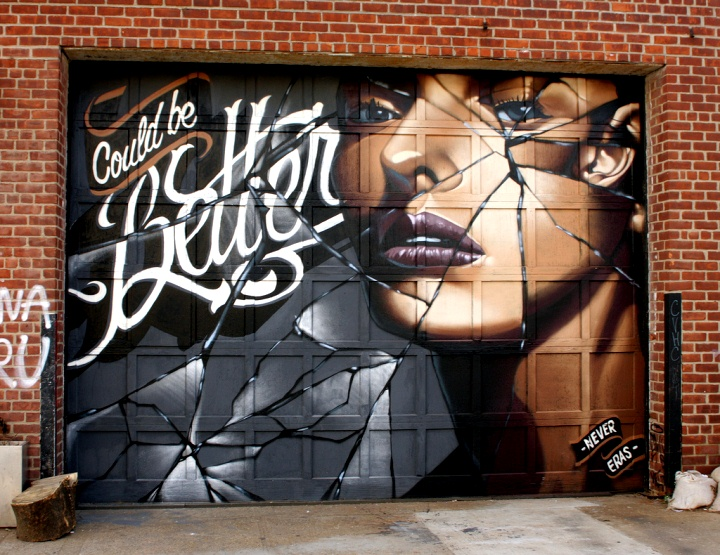 """Never & Eras mural in Bushwick, Brooklyn"""