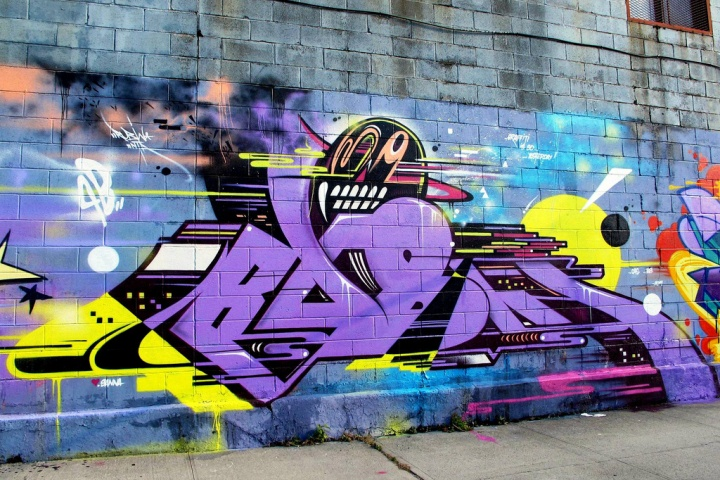 """Rubin415 street art and graffiti in Bushwick, Brooklyn, NYC"""