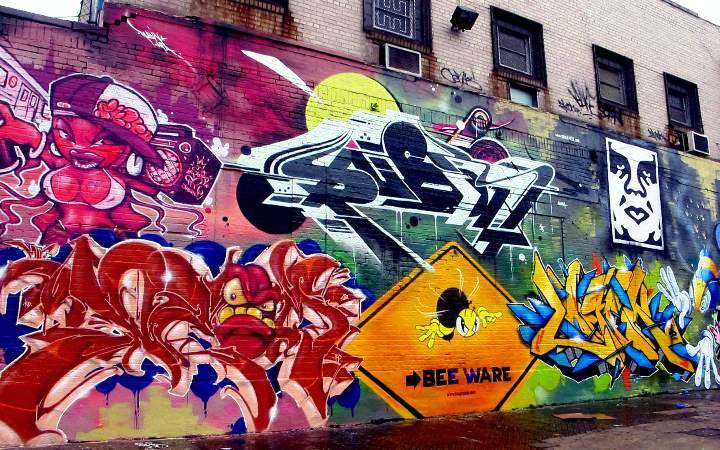 """Shiro, Deem, Rubin415, King Bee, Logek & Obey Bronx street art & graffiti"""