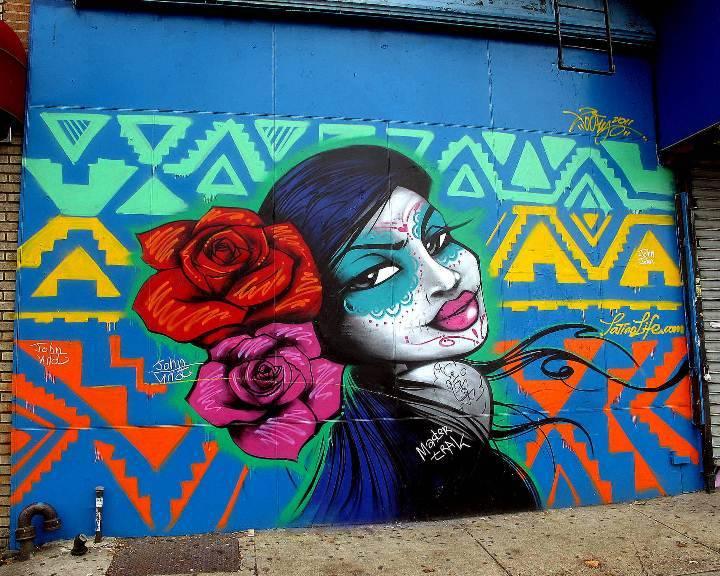 """Toofly street art in Williamsburg, Brooklyn"""