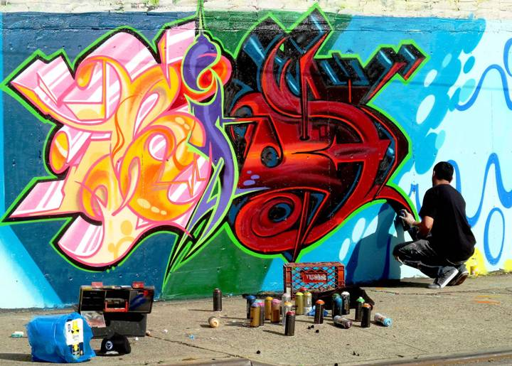 Bio graffiti at Hunts Point Bronx NYC Tats Cru, Daze, Crash, Goldie and More Refashion Hunts Point's Visual Landscape