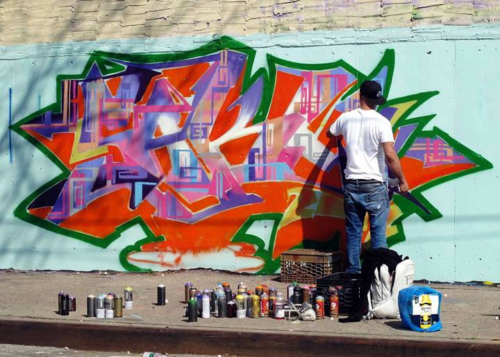 """DJ Goldie graffiti in the Bronx"""
