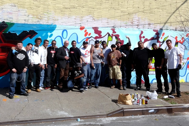 """Graffiti writers at Hunts Point with Henry Chalfant"""