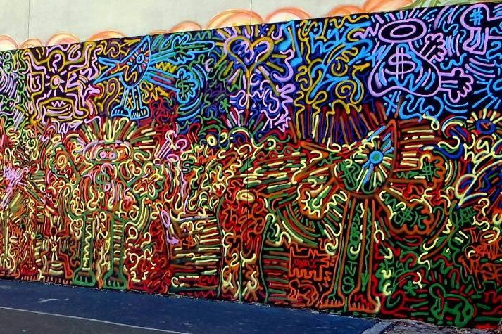 """LA 11 mural in NYC's East Village"""