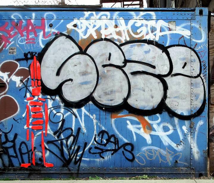 """""""Sti(c)kman street art in Williamsburg Brooklyn, NYC"""""""