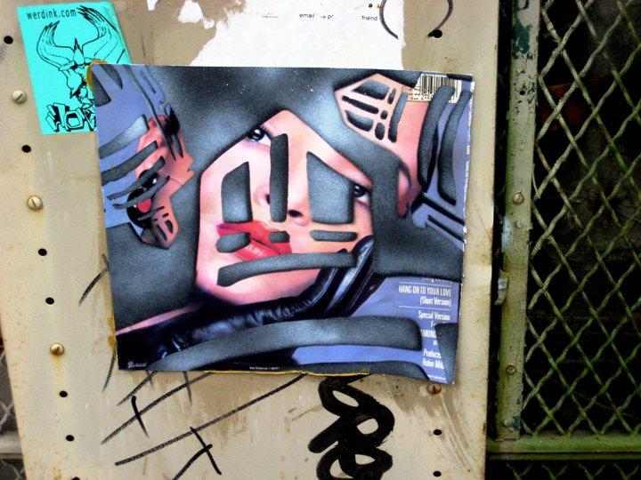 Sti(c)kman street art in NYC