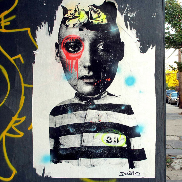 """Dain street art in Red Hook, Brooklyn"""