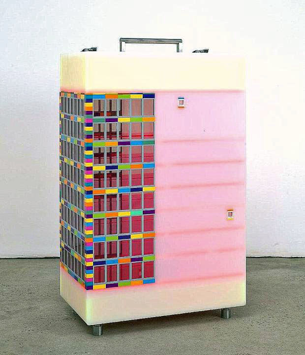"""Jaye Moon Lego and Pexiglas Sculpture, 2007"""