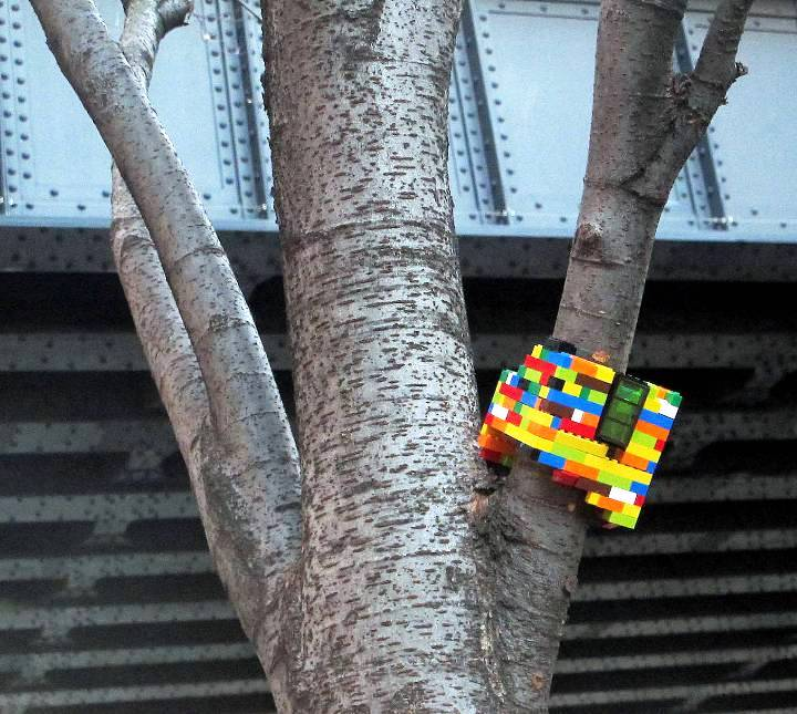 """Jaye Moon Lego street art in NYC"""