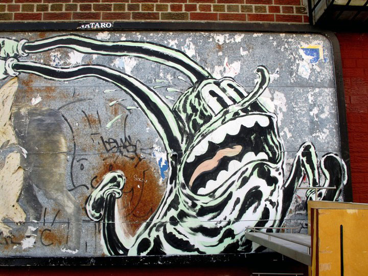 """ND'A street art character in Brooklyn, NYC"""