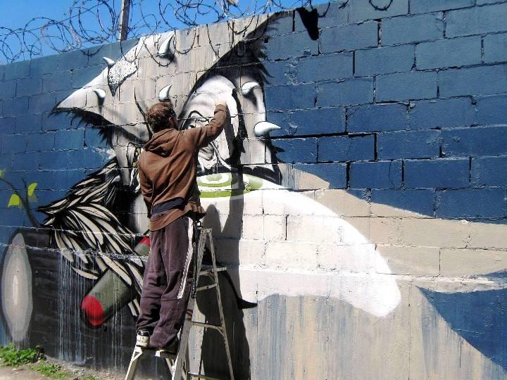 """""""Never street art in Bushwick, Brooklyn"""""""