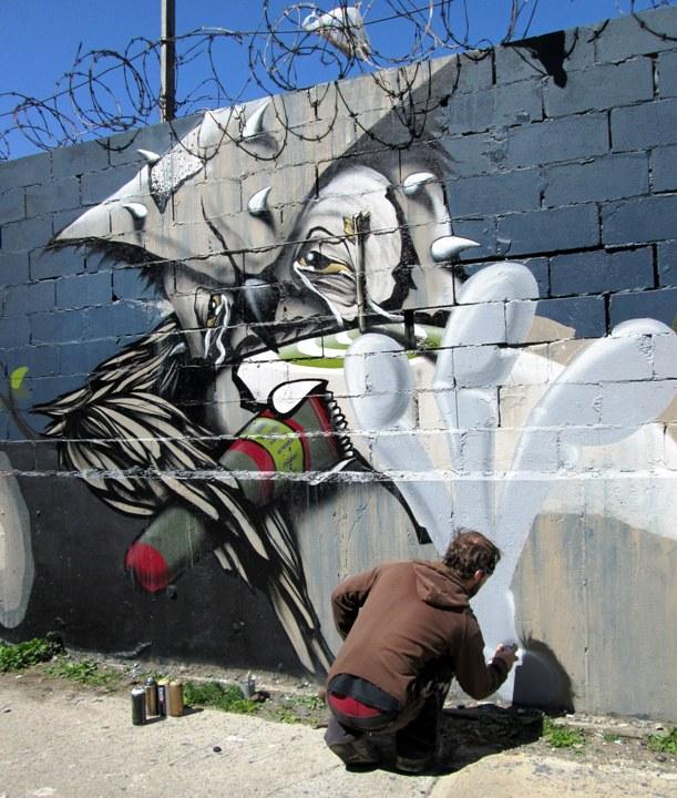 """Never street art character in Bushwick NYC"""