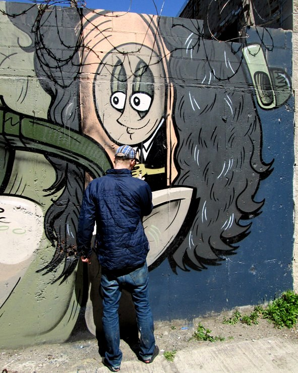 """The Yok street art in Bushwick, Brooklyn, NYC"""