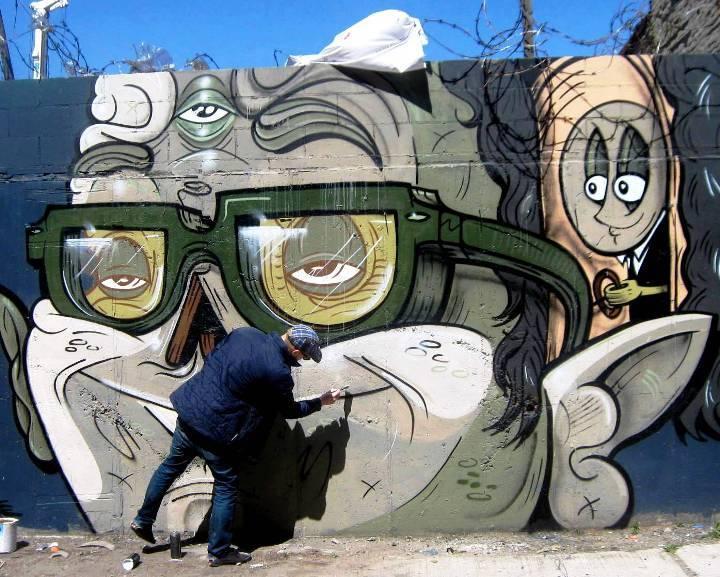 """Yok street art in Bushwick, Brooklyn, NYC"""