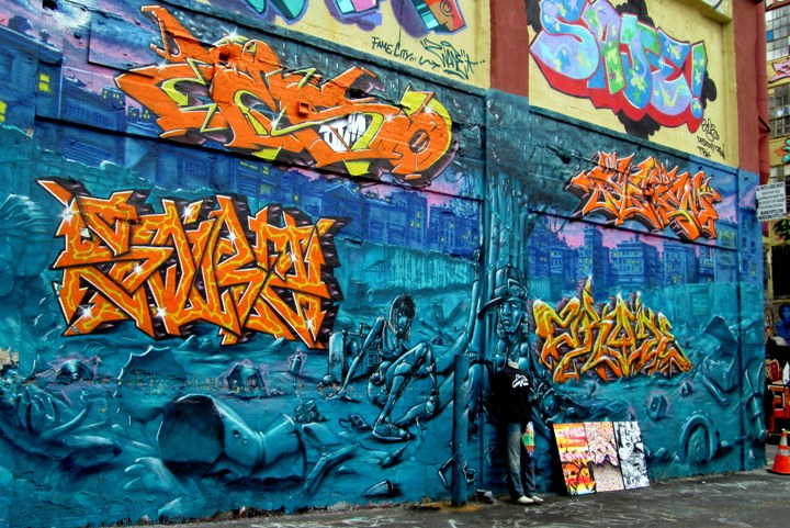 """2rode graffiti mural at 5Pointz"""