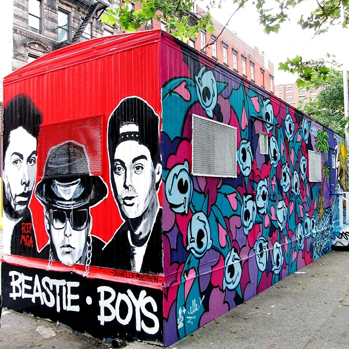 """Danielle Mastrion & Bishop203 artwork on trailer in NYC"""
