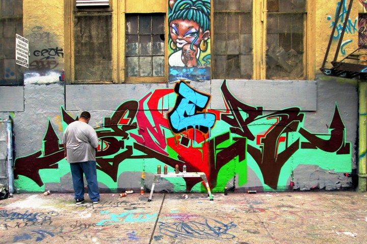 """Graff writer Demer ar 5Pointz NYC"""