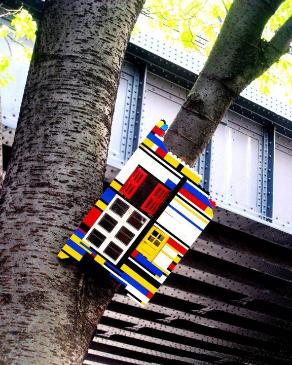 """Jaye Moon Lego street art installation in Chelsea, NYC"""