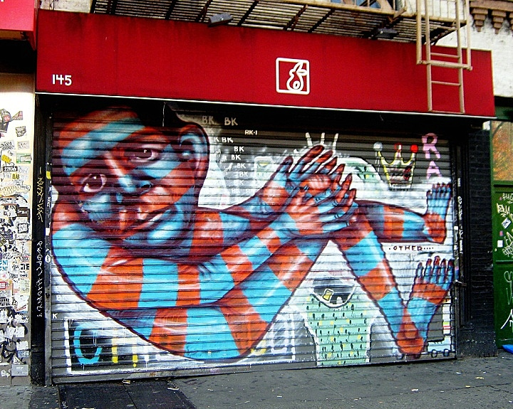 Other street art in NYC1 NYC Shutters – Part II: Other, Cekis, The Yok, Kram, Free5, Zam Art & Esu