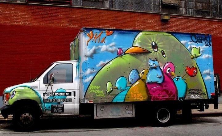 """""""Cern art on truck"""""""
