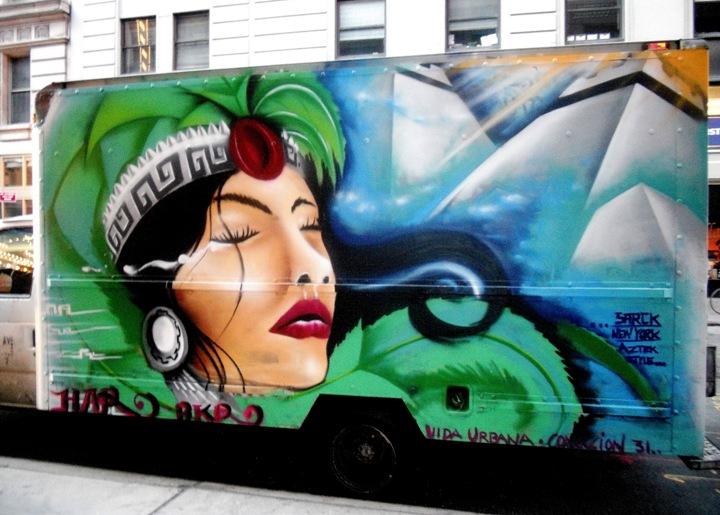 """Sarck Har artwork on NYC truck"""