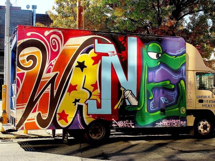 """""""Wane graffiti on NYC truck"""""""