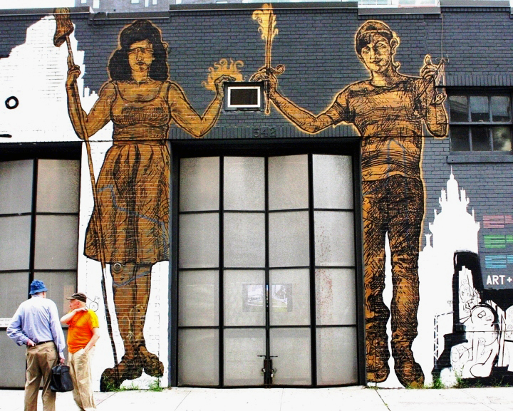 LNY street art in Chelseap LNY, Nanook and Taeyoon Transform Exterior of Chelsea's Eyebeam