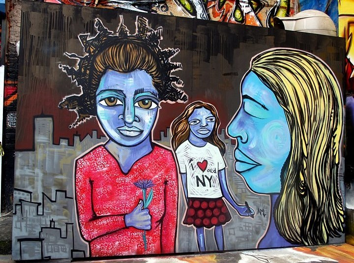 """Alice Mizrachi at 5Pointz"""