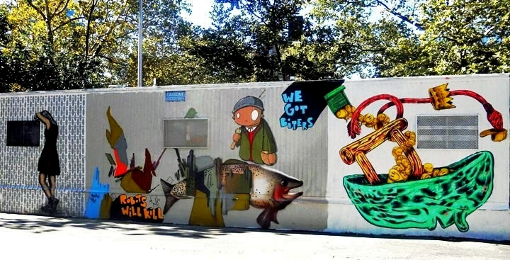 """Icy and Sot, Chris and Veng, RWK, and ND'A and OverUndeer street art"""