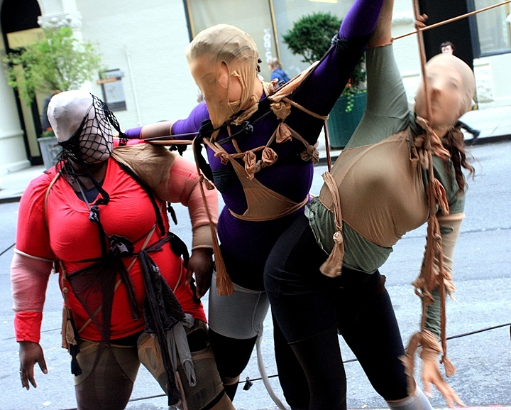 Forsenga Performance Art by Katrina De Wees in art in odd places Art in Odd Places Festival Pushes Boundaries of Creative Expression along Manhattans 14th Street