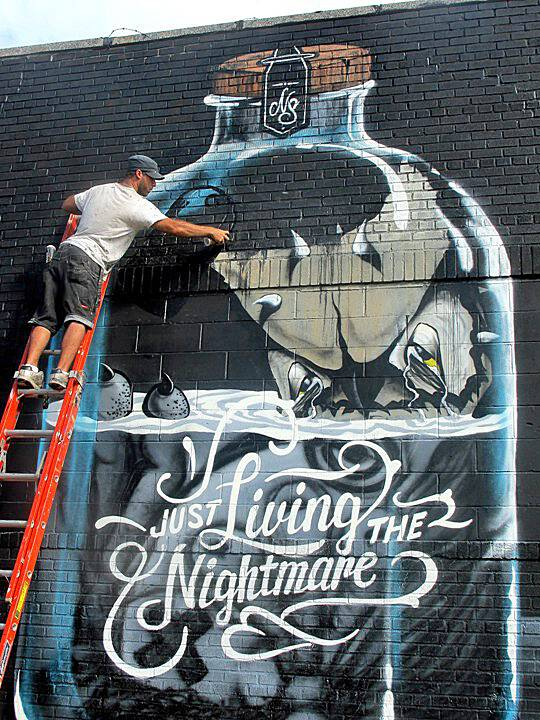 """Never street art"""