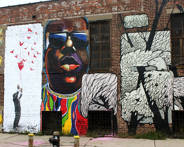 Nick Walker Danielle Mastrion and Concrete Jungle street art in Bushwick Five Points Speaking to Joseph Ficalora: Curator of Bushwick Five Points