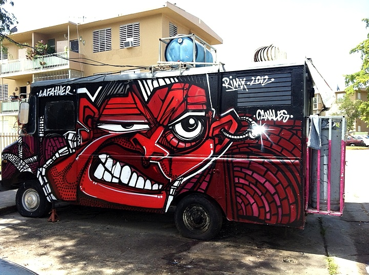 RIMX graffiti on van Speaking to David RIMX Sepulveda