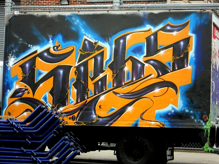Sebs graffiti on NYC truck1 NYC's Stylish Trucks & Vans – from the Whimsical to the Wild, Part IV: Noxer & 3ess, Gano, Wen One, Deceve, Sebs, NDA & See One and Stem