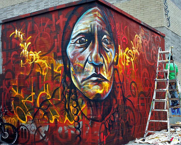 Joel Bergner street art in Bushwick New York City Speaking with Joel Bergner