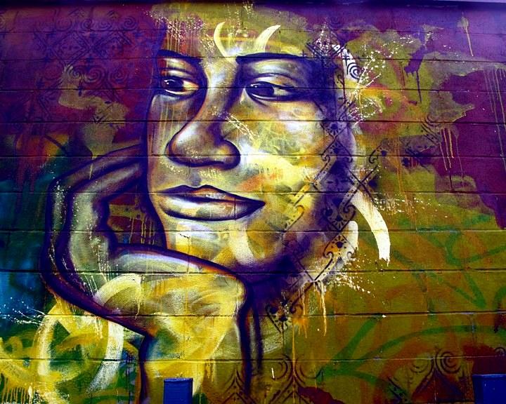 Joel Bergner street art mural close up in Bushwick Brooklyn Speaking with Joel Bergner