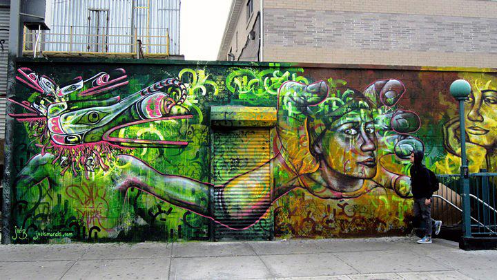 Joel Bergner street art mural in Bushwick Brooklyn NYC Speaking with Joel Bergner
