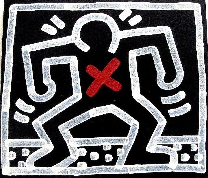 Keith Haring marker on wood Seldom seen Keith Haring artworks at Mana Contemporary