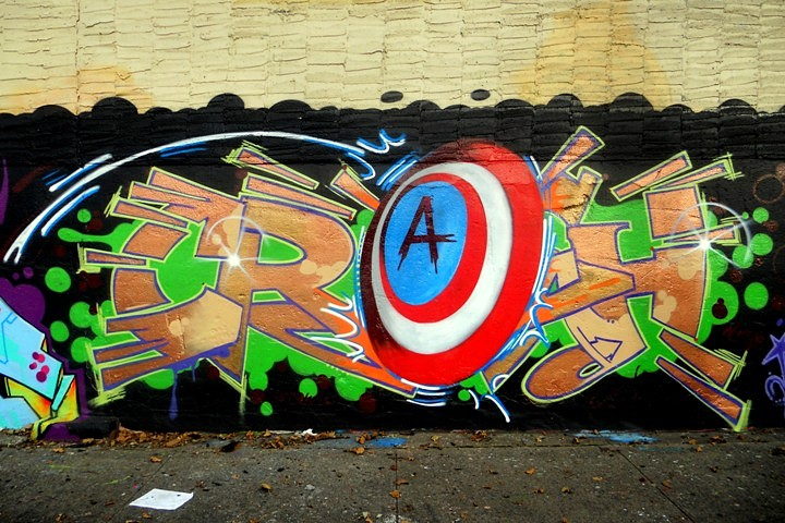 crash graffiti at Hunts Point Bronx NYC Up in the Bronx at Hunts Point: Rubin415, Dasic, Zewok, Inkie, Crash, Nick Walker, Mark Bode and Yes2