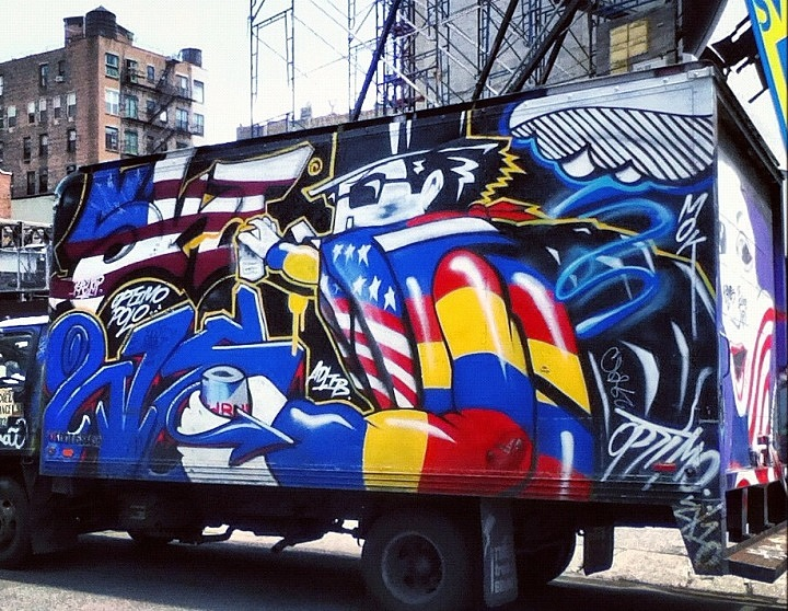ski urnewyork and Optimo Primo truck in NYC NYC's Stylish Trucks & Vans – from the Whimsical to the Wild, Part V: Sevor & Ideal, Cinik, Ski & Optimo Primo, Staino, Noxer & 3ess, Roda, Repo and Toper/Smart Crew