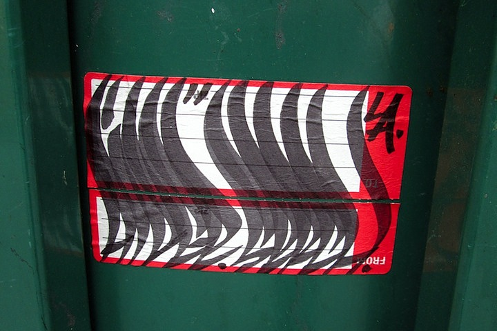 Aidge graffiti handstyle on NYC sticker NYCs Stylish Sticker Art    Part l: Anthony Lister, Alice Mizrachi, Curly, RAE, Katsu, Billi Kid, Street Grapes & more