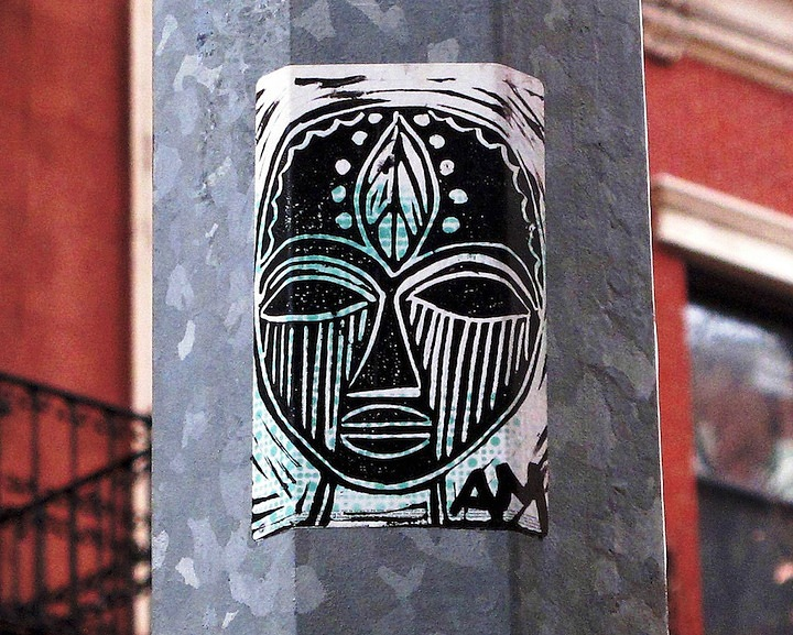 Alice Mizrachi sticker art in NYC 4b NYCs Stylish Sticker Art    Part l: Anthony Lister, Alice Mizrachi, Curly, RAE, Katsu, Billi Kid, Street Grapes & more